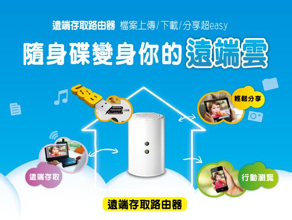 D-LINK實用的Home Cloud技術得到市場的認同,820L也當然有預裝。