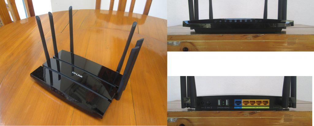 WDR8500外觀:保留傳統外置天線、4個LAN接口