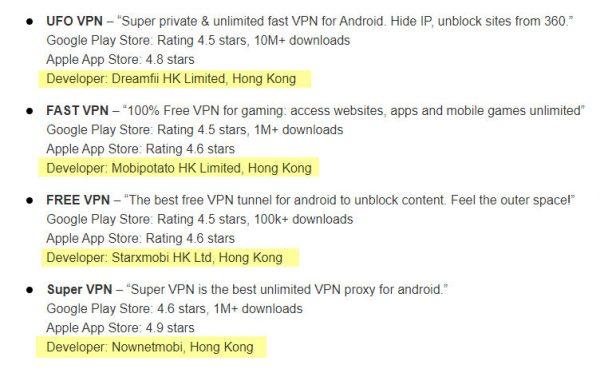 VPNMentor做的VPN公司背景調查
