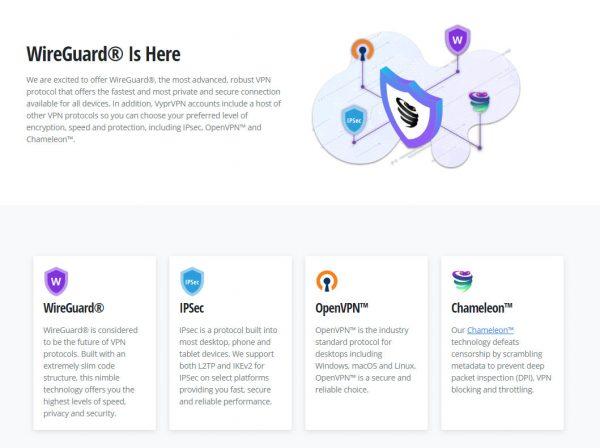 VyprVPN有多達4種VPN協議可選