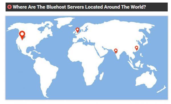 bluehost 服務器位置