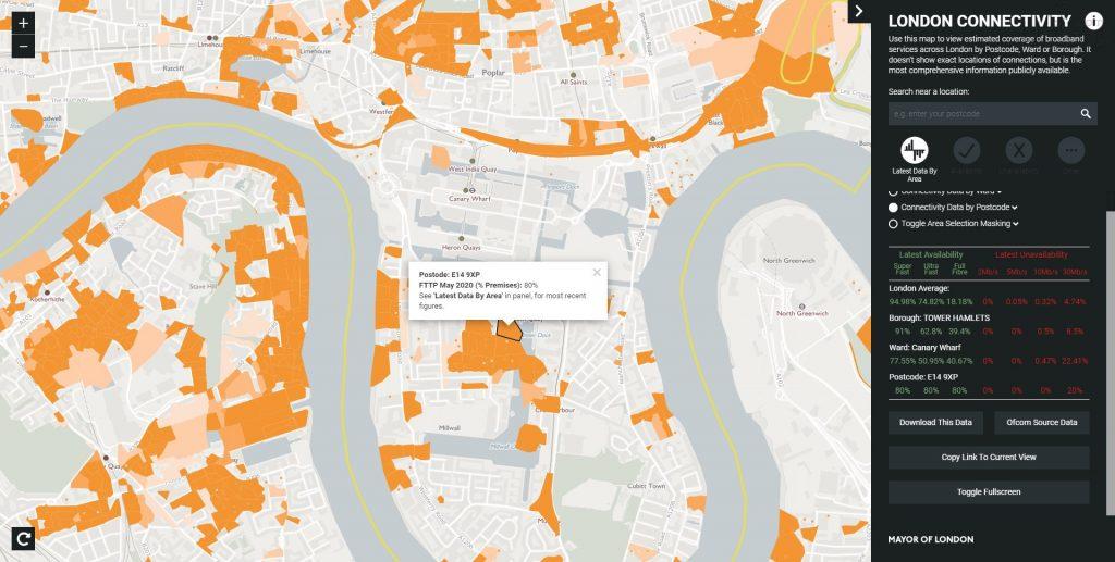 倫敦光纖上網覆蓋-POPLAR