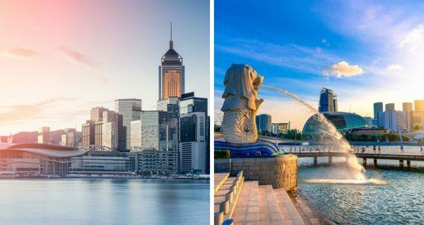 本次VPN測試線路選用叮噹碼頭的光纖城市:新加坡和香港