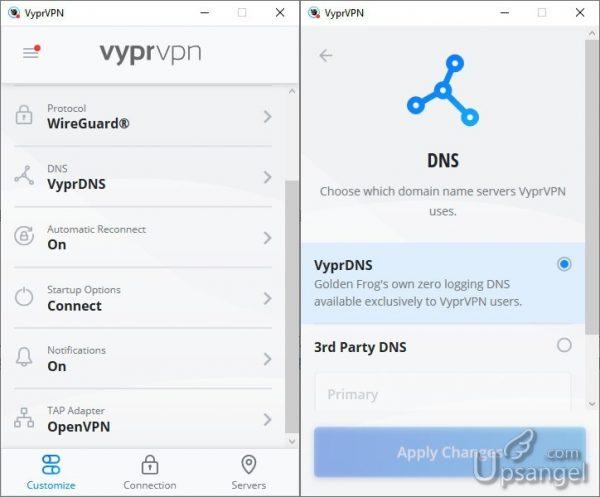 VyprVPN提供的專屬隱私DNS服務設置