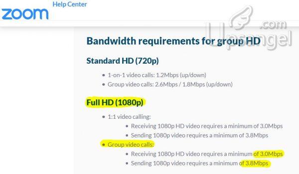 ZOOM 視頻會議 頻寬需求