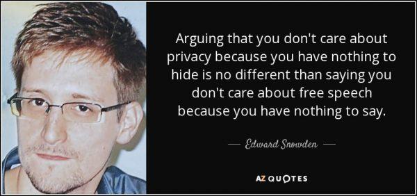snowden privacy quote