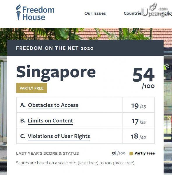新加坡 網路 自由